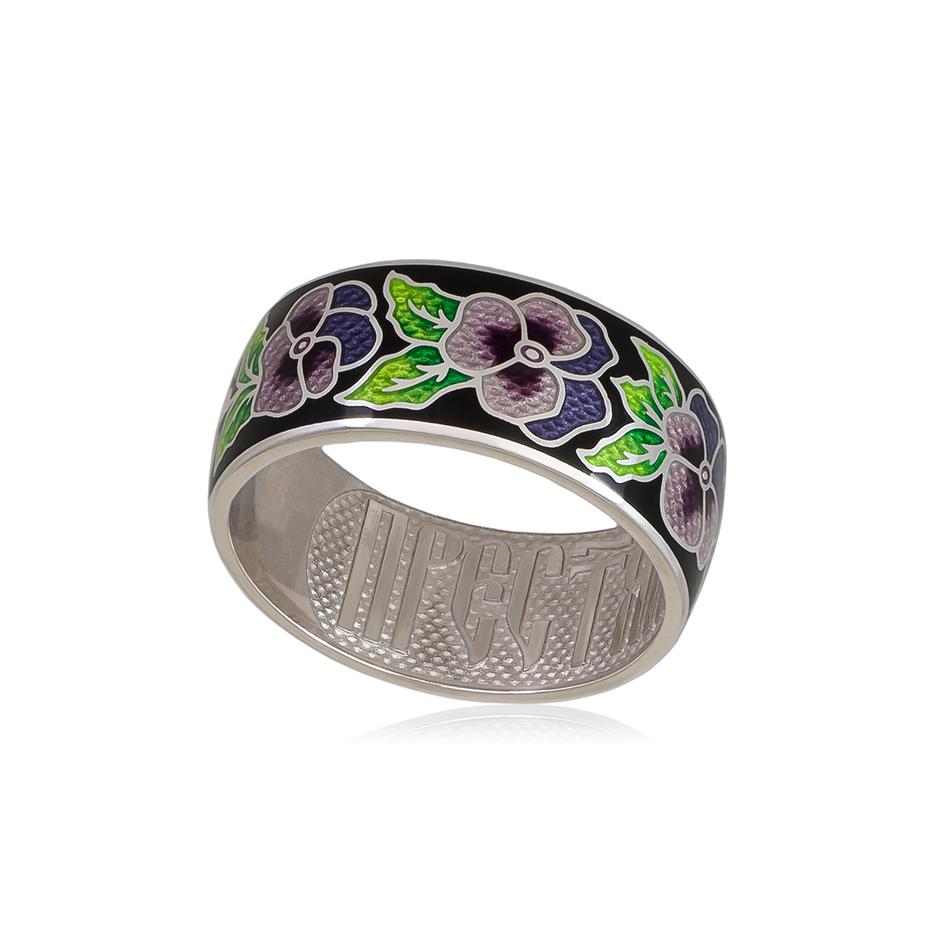 6 69 4s 1 - Кольцо из серебра «Анютины глазки», сиреневое