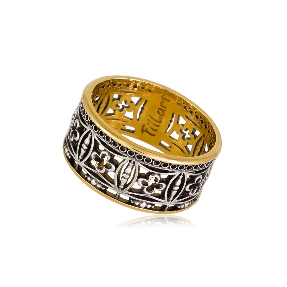 6 70 1s 1 - Кольцо из серебра «Петербург. Набережная Мойки» (золочение)