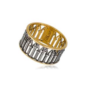 6 71 1s 1 300x300 - Кольцо из серебра «Петербург. Зимняя канавка» (золочение)