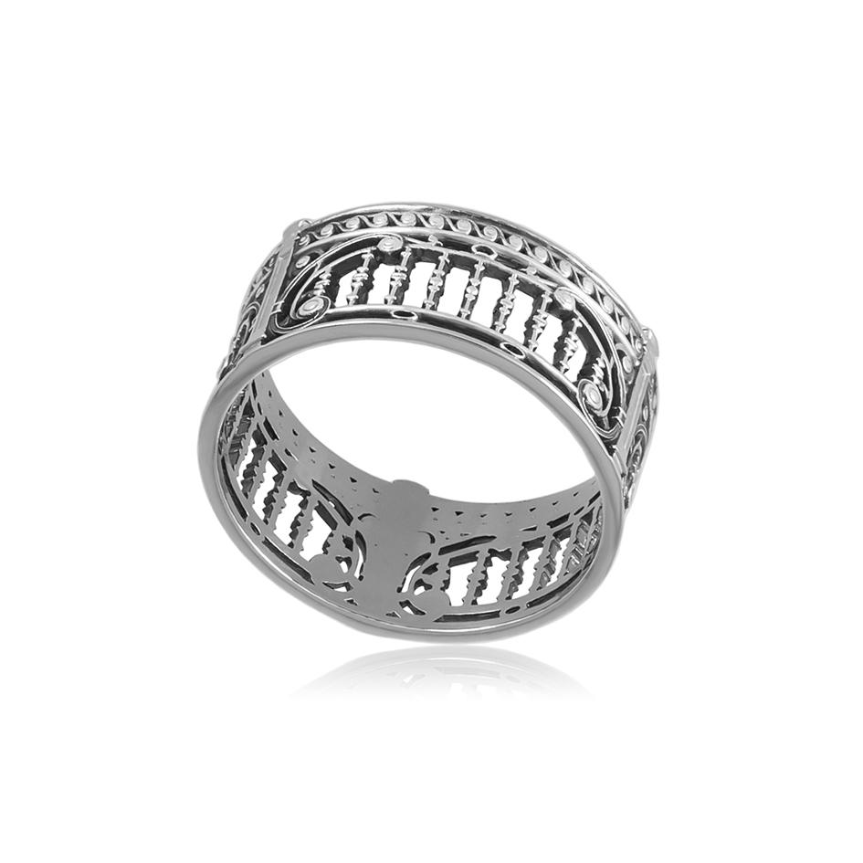6 74s 1 - Кольцо из серебра «Петербург. Троицкий мост»