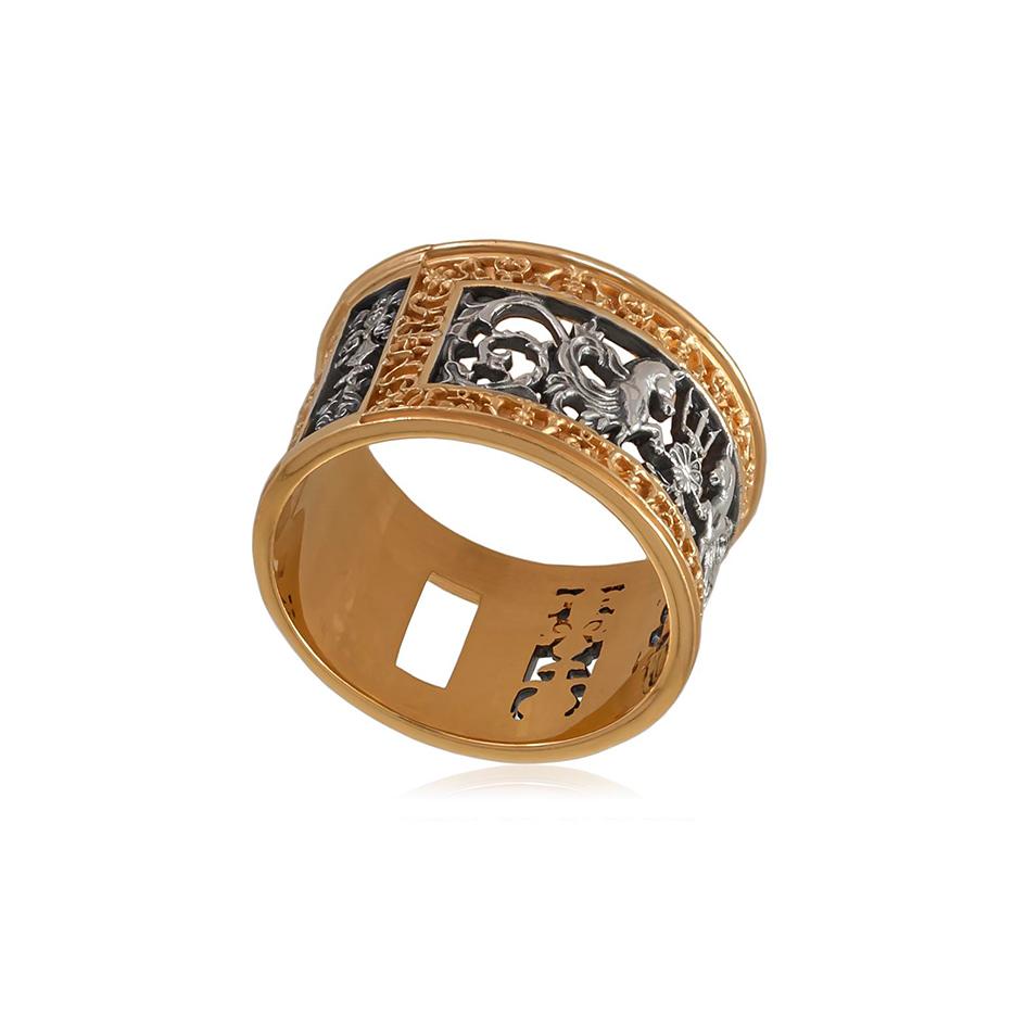 6 75z 1 - Кольцо серебряное «Благовещенский мост» (золочение)