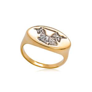 6 84 1 1 300x300 - Кольцо из серебра «Единорог»