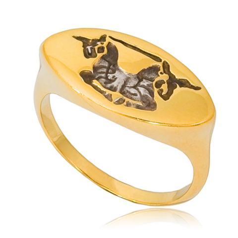 6 84 - Кольцо «Единорог»