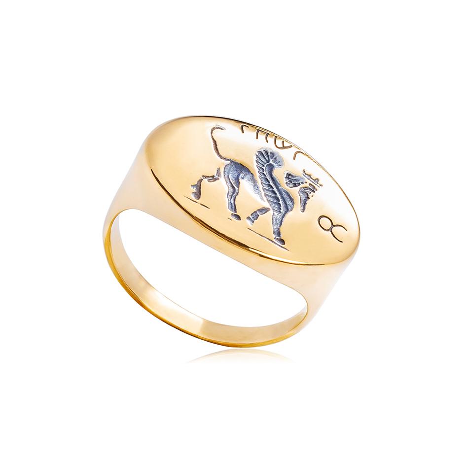 6 85 1 1 - Кольцо из серебра «Грифон»