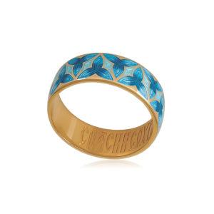 6 91 2z 2 300x300 - Кольцо из серебра «Трилистник» (золочение), синее