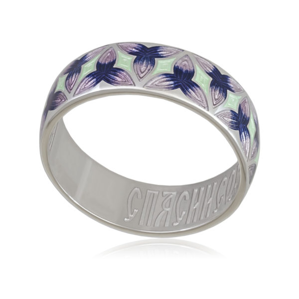 6 91 3s 600x600 - Кольцо «Трилистник», фиолетовая