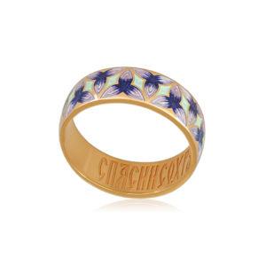 6 91 3z 1 300x300 - Кольцо из серебра «Трилистник» (золочение), фиолетовое