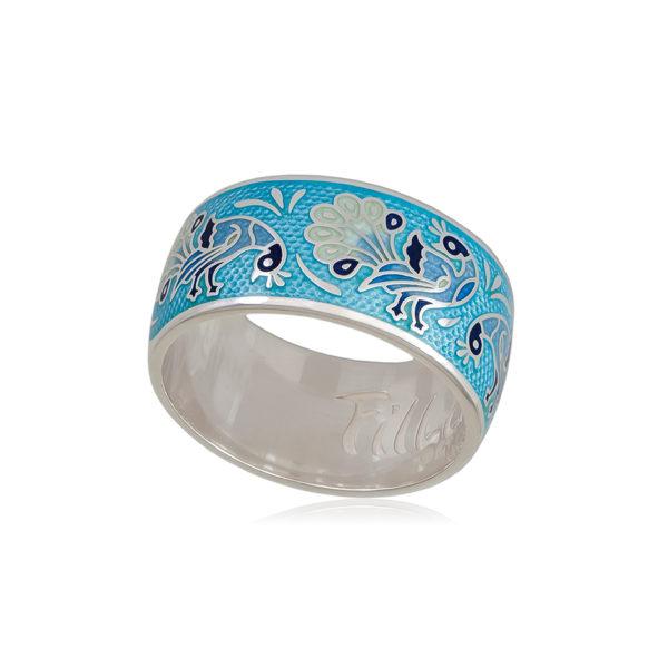 6 92 3s 1 600x600 - Кольцо из серебра «По зернышку», голубая