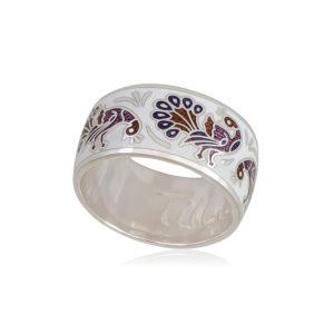 6 92 5s 1 300x300 - Кольцо из серебра «Пион» (золочение), гжель