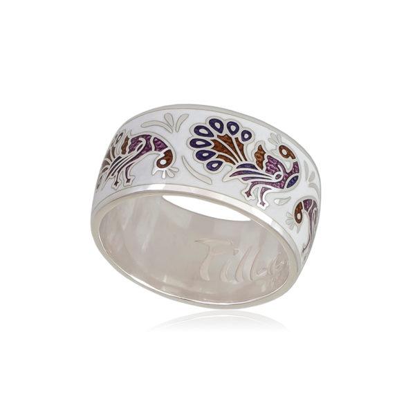 6 92 5s 1 600x600 - Кольцо «По зернышку», бело-фиолетовое