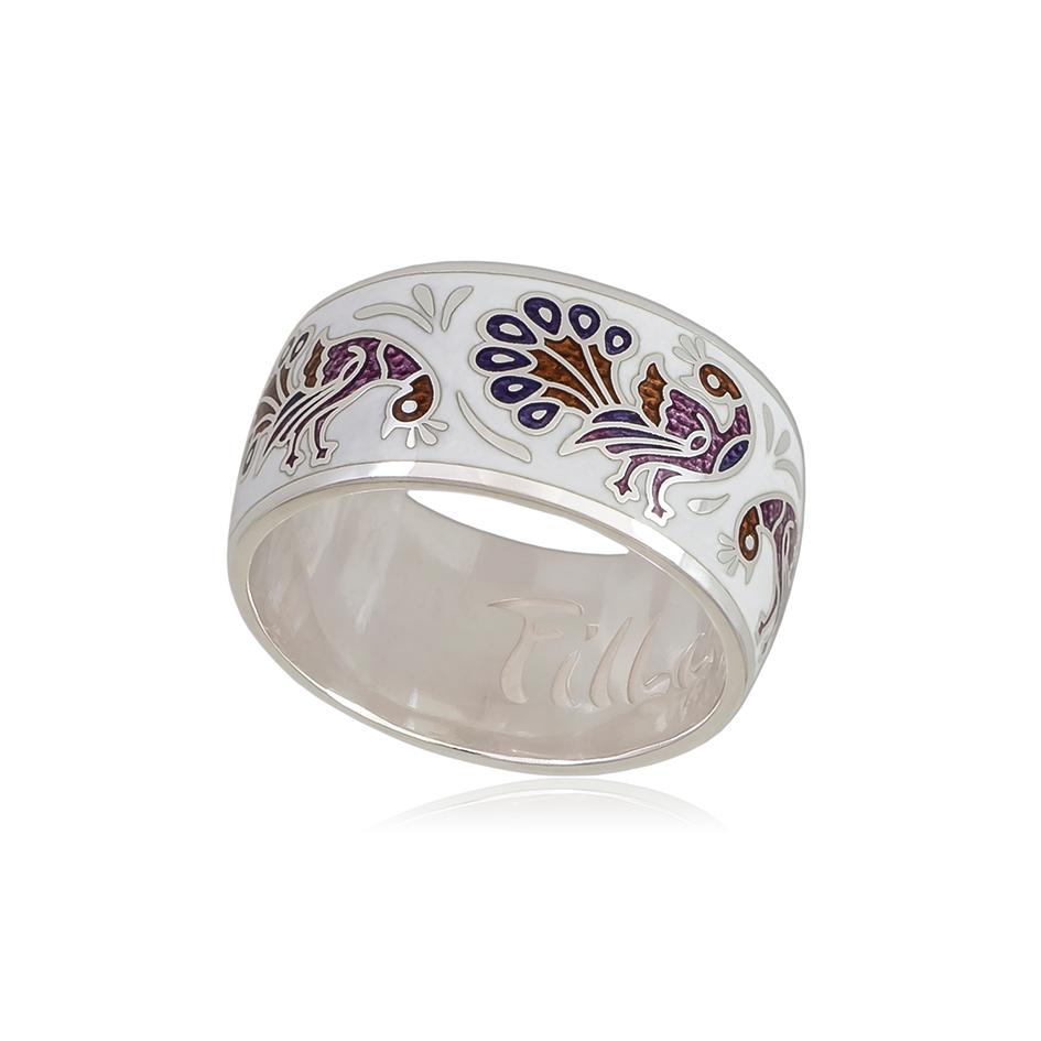6 92 5s 1 - Кольцо «По зернышку», бело-фиолетовое