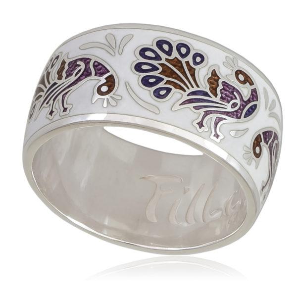 6 92 5s 600x600 - Кольцо «По зернышку», бело-фиолетовая