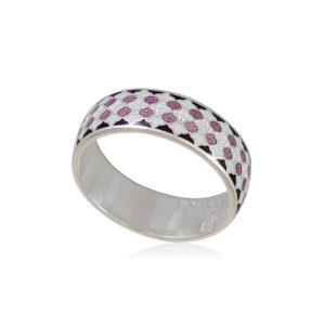 6 96 1s 1 300x300 - Кольцо из серебра «Две молитвы», фиолетовое с фианитами