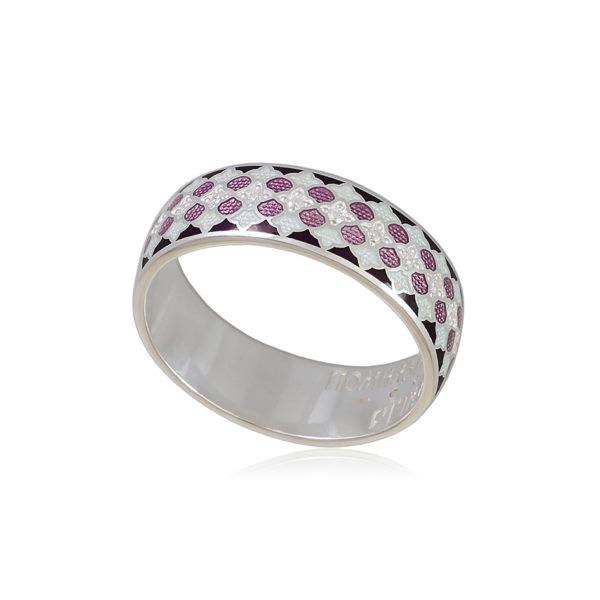 6 96 1s 1 600x600 - Кольцо из серебра «Две молитвы», фиолетовое с фианитами