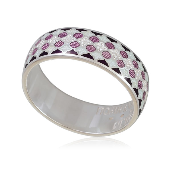 Кольцо «Две молитвы», фиолетовая