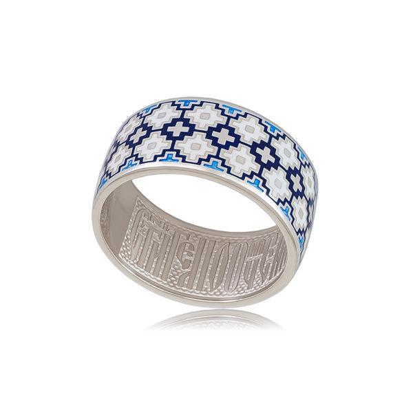 6 97 2s 1 600x600 - Кольцо из серебра «Мережка», синее