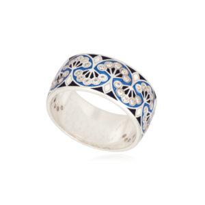 6 99 variant2 300x300 - Кольцо из серебра «Сады Семирамиды», синее с фианитами