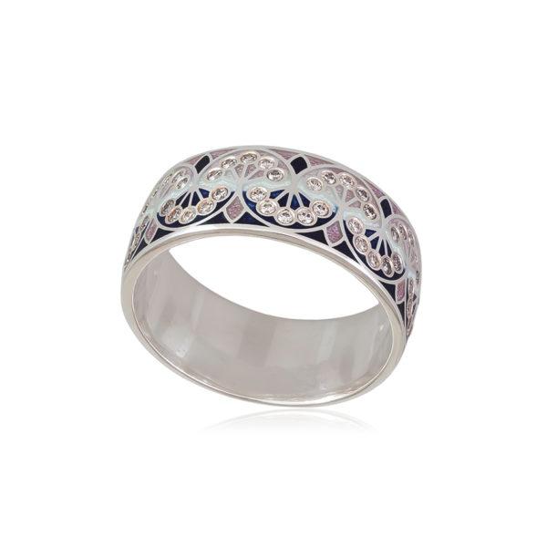 6 99 2s 1 600x600 - Кольцо «Сады Семирамиды», синее с фианитами