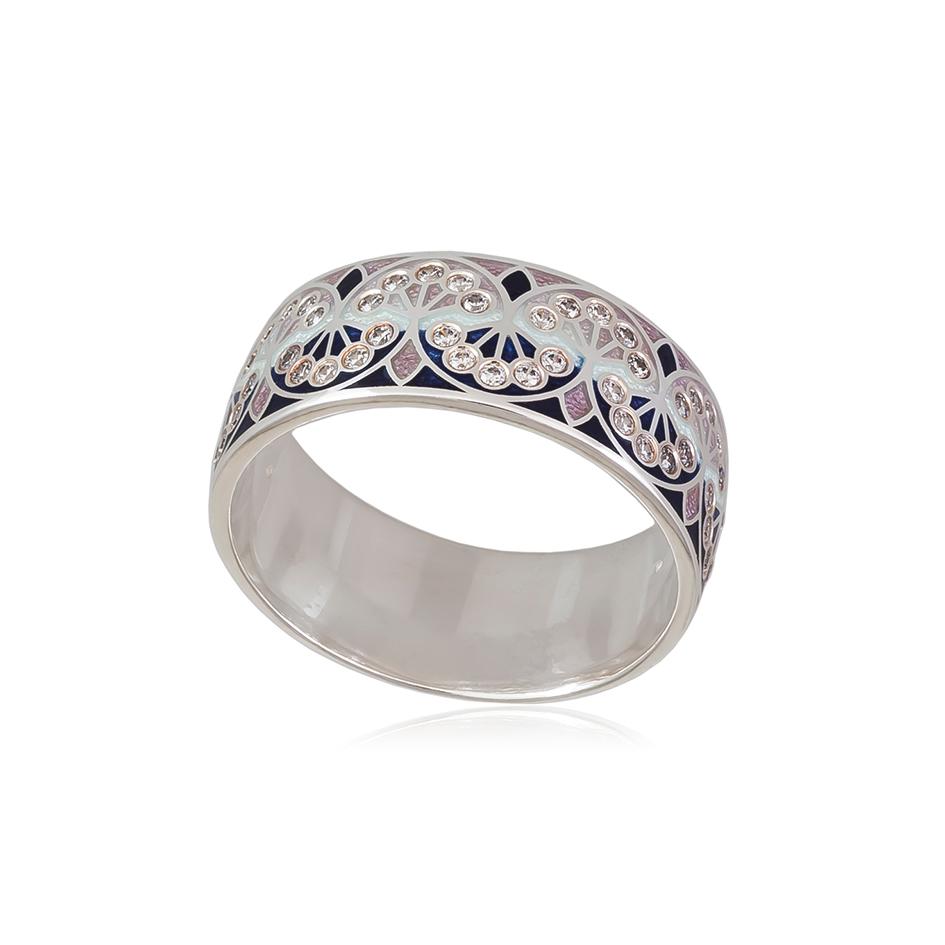 6 99 2s 1 - Кольцо из серебра «Сады Семирамиды», розовое с фианитами