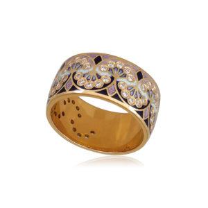 6 99 2z 1 300x300 - Кольцо из серебра «Сады Семирамиды» (золочение), розовое с фианитами