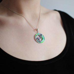 7 46 z 300x300 - Подвеска из серебра «Ирисы», зеленая