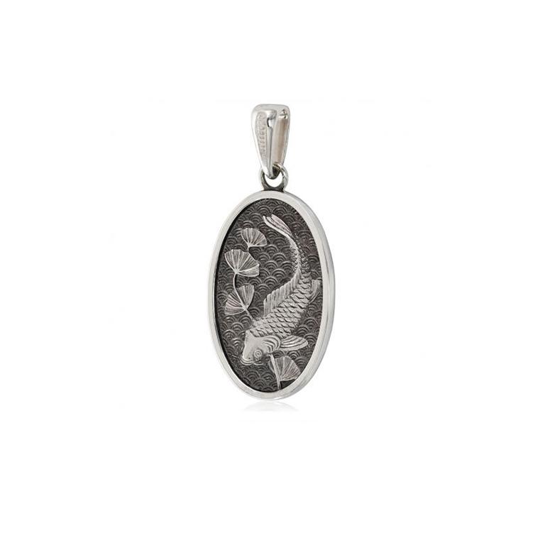 7 16 1 1 - Серебряная подвеска «Карп»