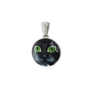 7 45 1s 1 300x300 - Подвеска из серебра «Кошачьи глазки», зеленая