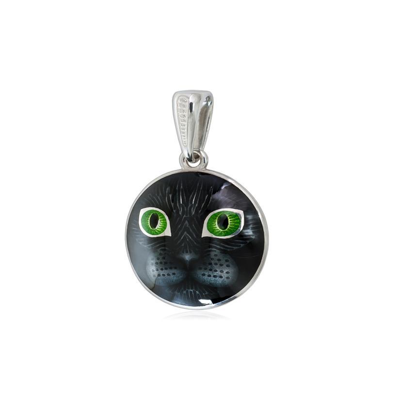 Подвеска «Кошачьи глазки», зеленая