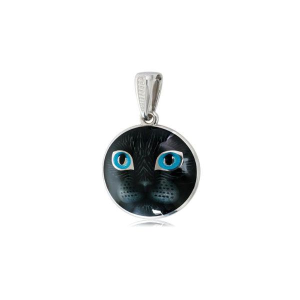 7 45 2s 2 600x600 - Подвеска из серебра «Кошачьи глазки», голубая