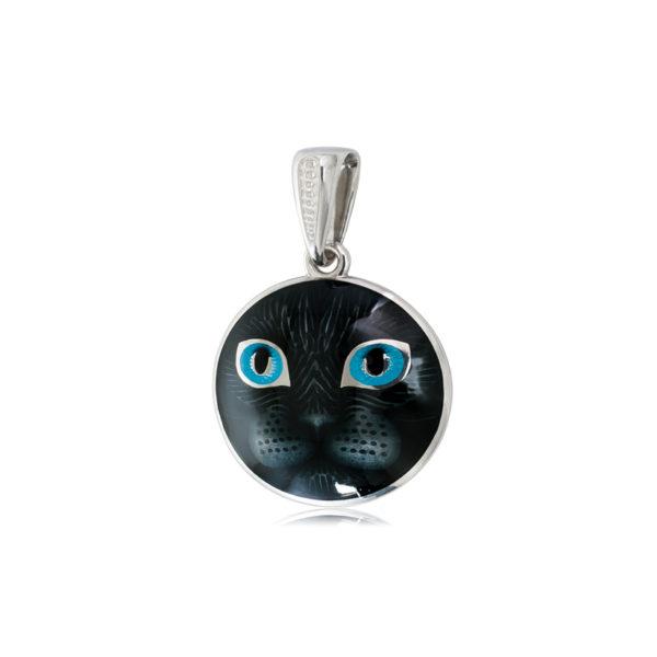 Подвеска «Кошачьи глазки», голубая