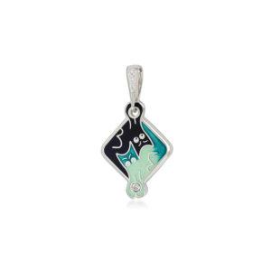 7 59 4s  1 300x300 - Подвеска из серебра «Котики Инь-Ян», зеленая