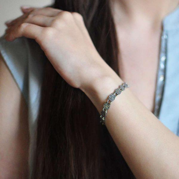 9 33 1 600x600 - Браслет из серебра «Хризма»