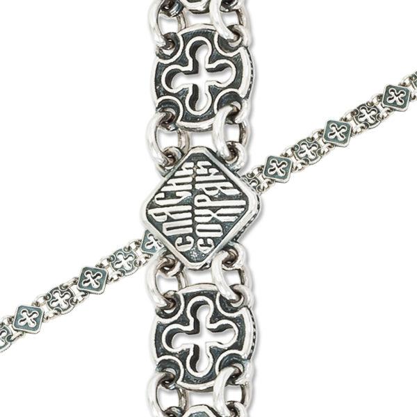 9 43 6 1 600x600 - Браслет из серебра «Мальтийский»