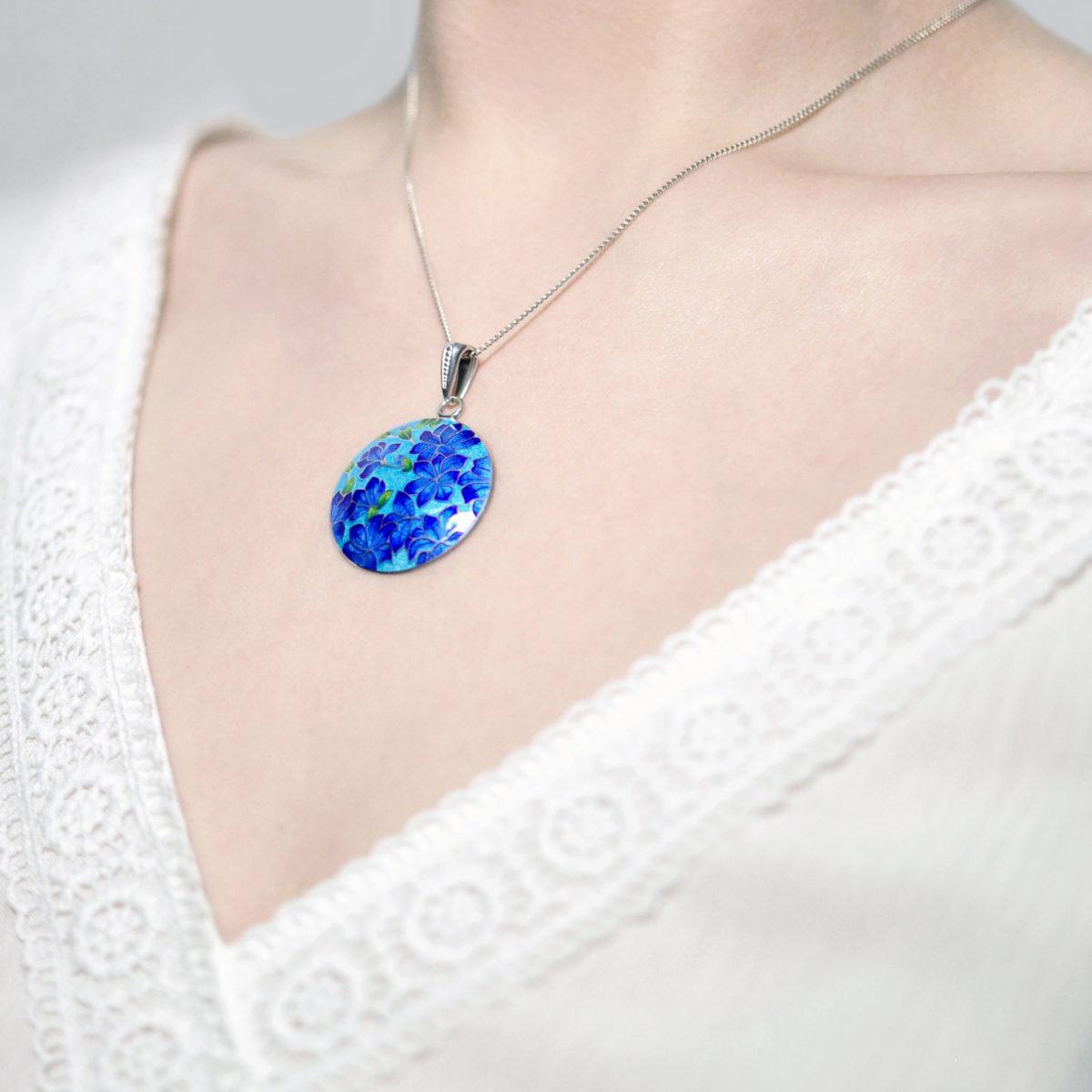 Serebro golubaya 3 1200x1200 - Подвеска «Клематис», сине-голубая