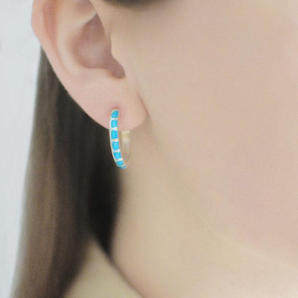 Serebro golubaya 6 600x600 - Серьги серебряные «Седмица», голубые