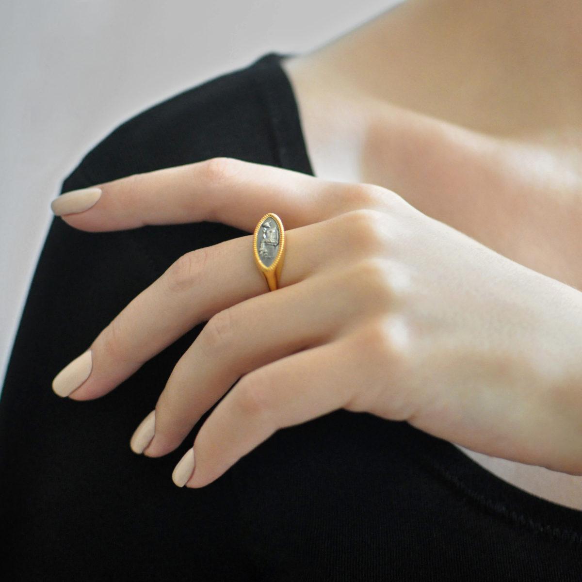 Zolochenie 2 1200x1200 - Кольцо из серебра «Пенелопа»