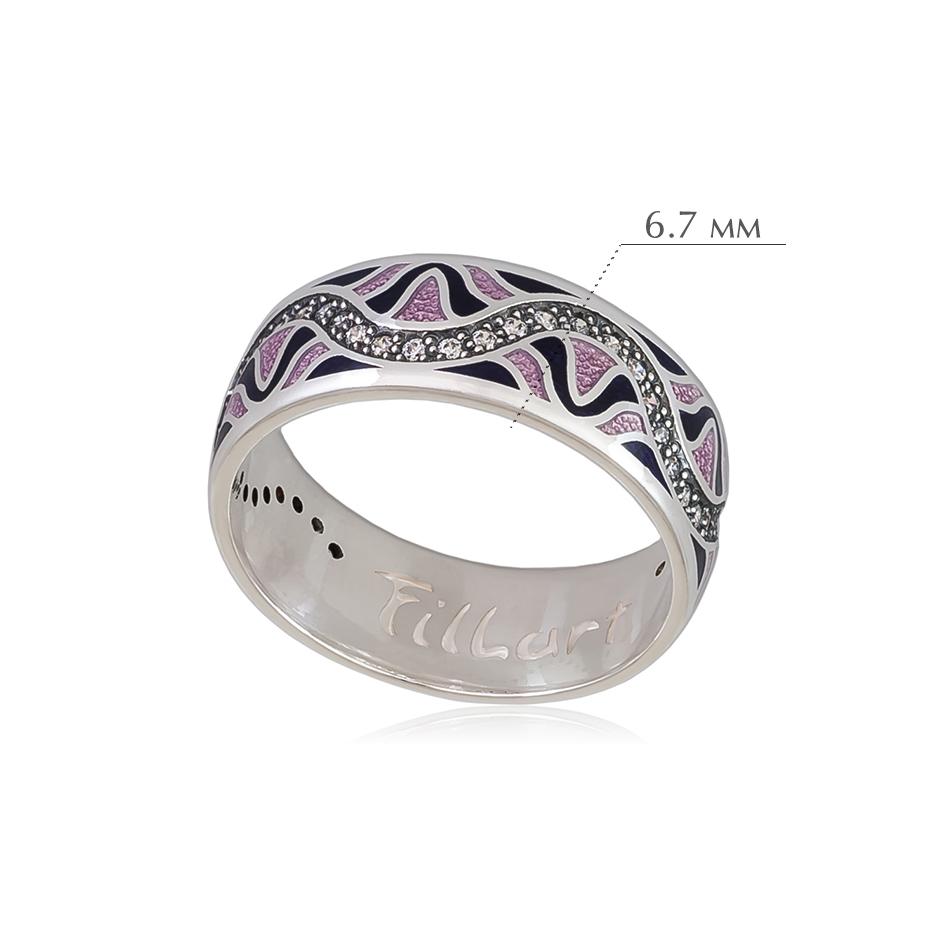 afrodita 3 - Кольцо из серебра «Афродита», фиолетовое с фианитами