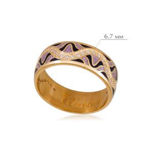 afrodita 6 300x300 - Кольцо из серебра «Афродита» (золочение), фиолетовое с фианитами