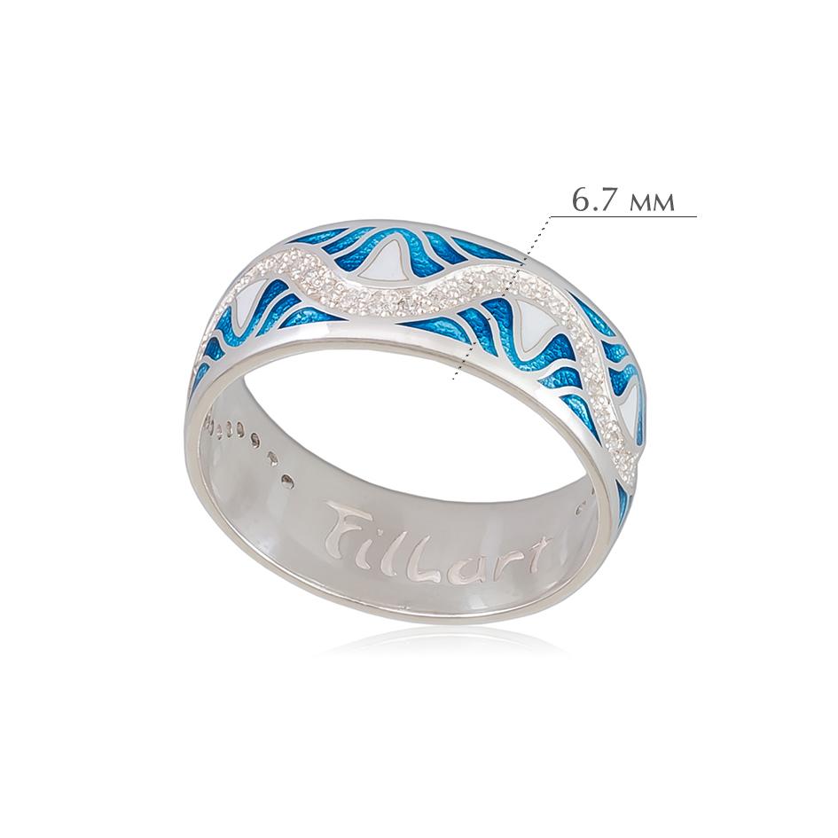 afrodita - Кольцо из серебра «Афродита», голубое с фианитами