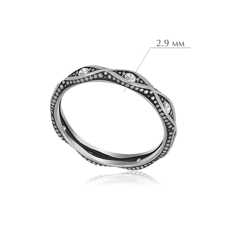 antichnoe 1 - Кольцо из серебра «Античное» с фианитами