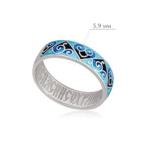 derzhavnoe 2 300x300 - Кольцо из серебра «Державное», синяя