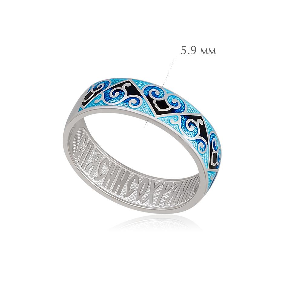 derzhavnoe 2 - Кольцо из серебра «Державное», синяя