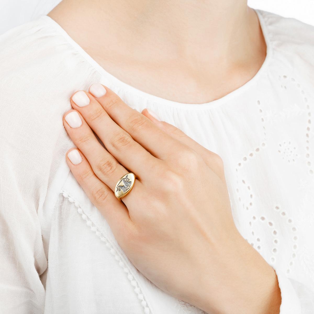 edinorog 1 - Кольцо из серебра «Единорог»