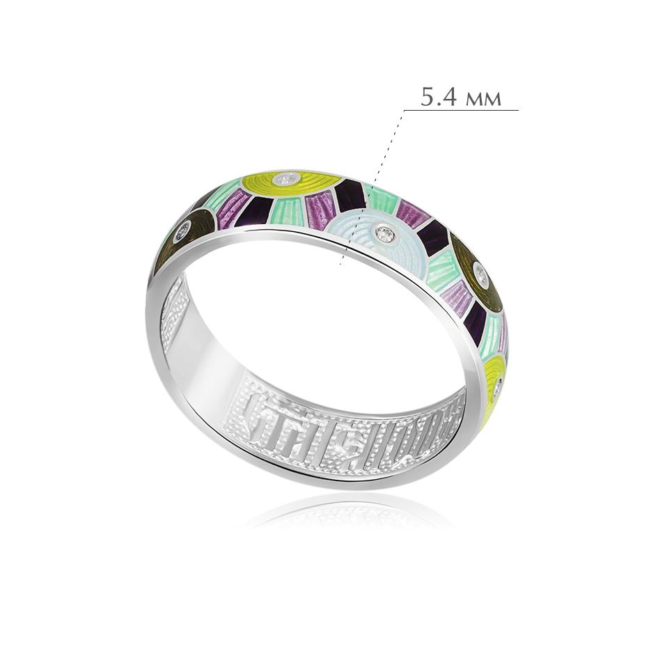 erte trehczvet - Кольцо из серебра «Эрте», разноцветное с фианитами