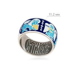 evangelisty 1 300x300 - Кольцо из серебра «Евангелисты», синяя