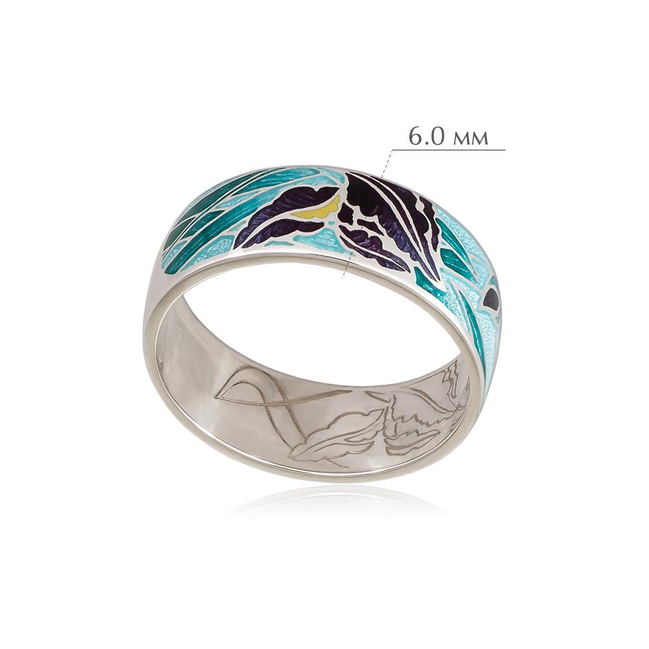 irisy 8 - Кольцо из серебра «Ирисы», морская волна
