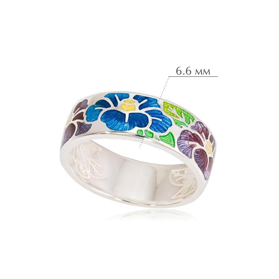 kameliya - Кольцо из серебра «Камелия», сине-фиолетовое