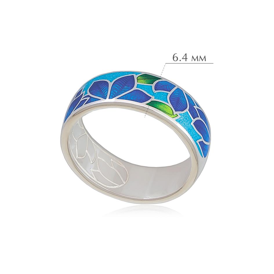 klematis 4 - Кольцо из серебра «Клематис», сине-голубое