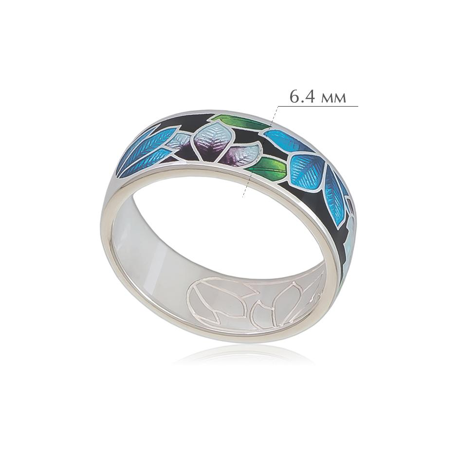 klematis 6 - Кольцо из серебра «Клематис», черное