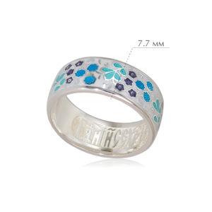 klubnika 3 300x300 - Кольцо из серебра «Клубника», белое